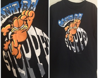 "Vintage Large Garfield ""Cant be Stopped"" 90s shirt"
