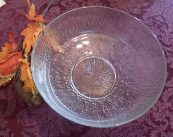 Textured Glass Bowl, (# b5)