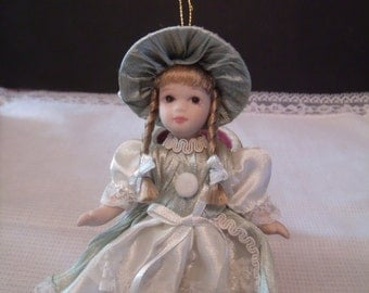 Miniature Porcelain Doll, (# 461/15)