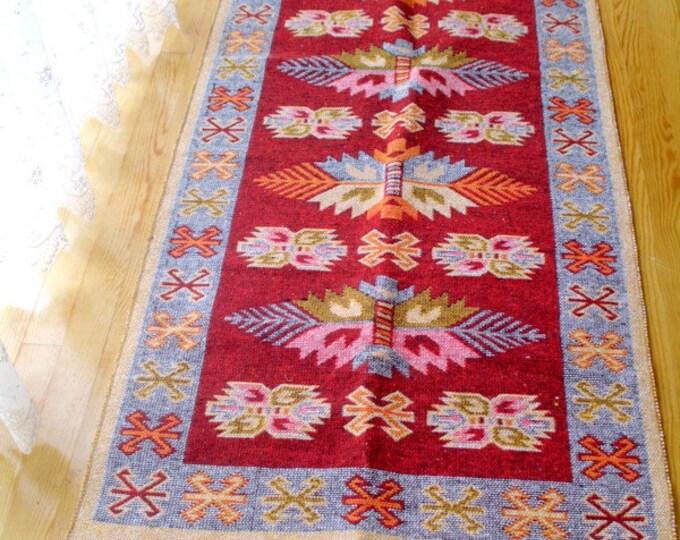 Kilim rug, large kilim runner rug, geometric floor kilim rug, tribal kilim, living room kilim rug, boho rug