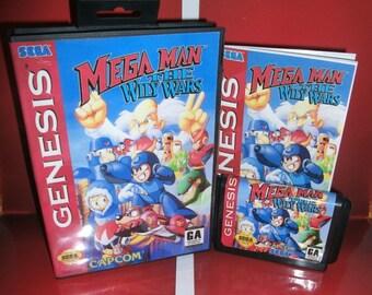Mega Man The Wily Wars EU/USA  version cover with +box+manual for Sega Genesis