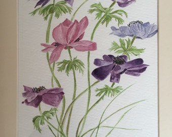 Anemones watercolour original