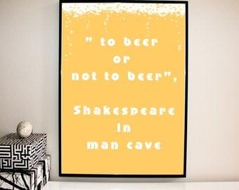 Digital Poster, Digital Print, Poster Art, Printable Wall Art, Man Cave, Beer,