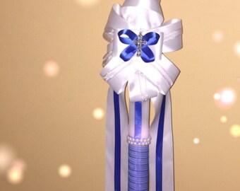 Lambatha, lambada, baptism candle, orthodox baptism, boy theme, 30 inches, 2.5 feet, lambathes