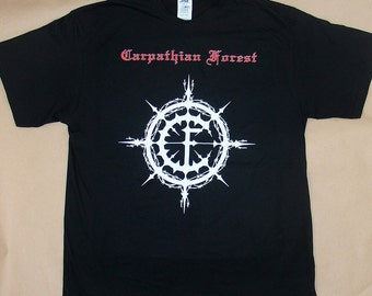 Carpathian Forest Logo, T-shirt 100% Cotton