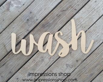 wash wood cutout