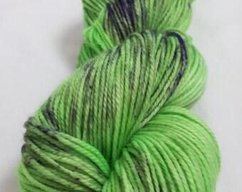 Hand Dyed Yarn - Superwash - DK Weight - 100% Merino Wool - Variegated - 'Mighty T-Rex'