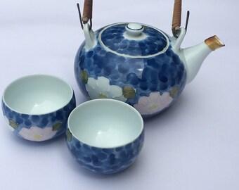 Hand Painted Waterlily Tea Set