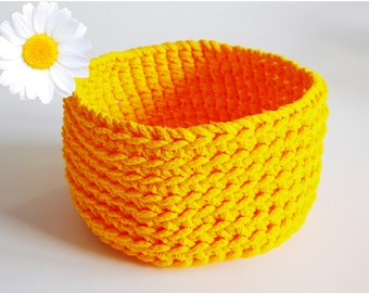 Crochet basket bottom silo orange