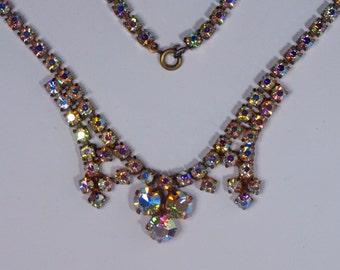 Vintage, 1960s, Aurora Borealis Necklace (2539)