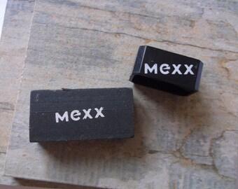 SALE 1980s Mexx Black Eraser and Pencil Sharpener