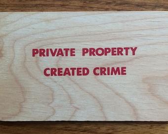 """Jenny Holzer """"Truisms"""" wooden postcard"""