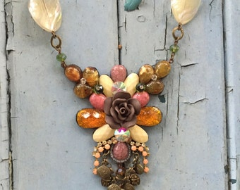 Autumn Orchid Necklace