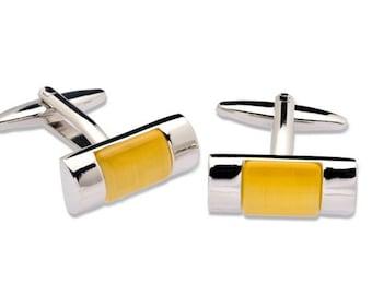 Cufflink with Rectangular Shape
