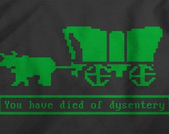 Oregon Trail Died of Dysentery - Gamer T-Shirt