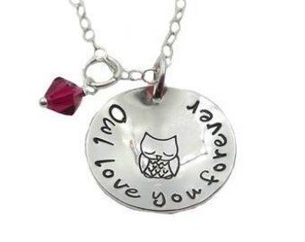 Owl Love You Forever Necklace {Sterling Silver}