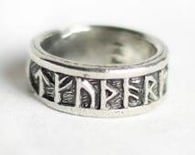 Viking Pagan Norse Adjustable Rune Ring AR001
