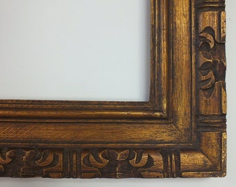 9.5 x 11 5/8 Tiki Picture Frame South Pacific Sea Style Wood Frame Rare Bohemian