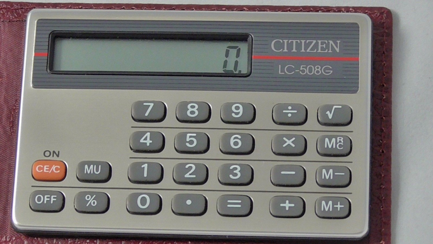 Vintage Citizen Electronic Calculator Model Lc 508g Like New