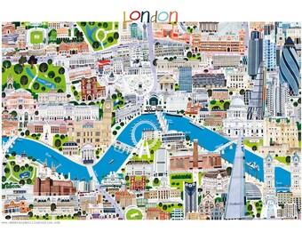 London cityscape - High quality Fine Art print