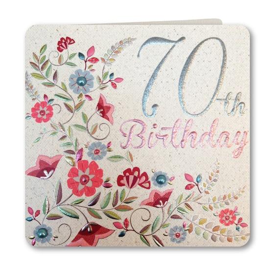 Birthday Card Happy 70th Birthday 70th Birthday Card
