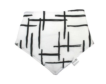 Bib with black lines for baby