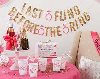 Last Fling Before the Ring 66 Piece Bachelorette Party Kit