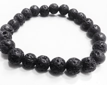 Lava Rock Essential Oil Diffuser Bracelet Chakra All Natural with oil pre applied spearmint oil