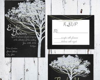 Light Tree Invitation Package