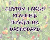 Custom Full-Sized Laminated Insert, Dashboard, or Divider for Planners, Notebooks, and Binders