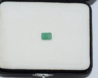 1.52cts Natural Zambian EMERALD Untreated Calibrated Octagon Emerald Cut