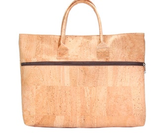 Document bag made of Cork, Cork bag, Briefcase