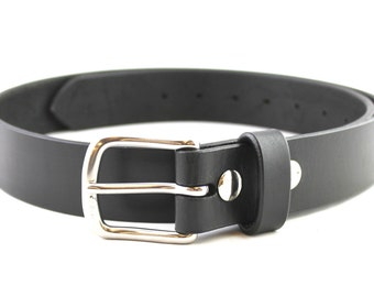 Our Best Bridle Black Man Leather Belt Full Grain Men Custom Hand Made USA
