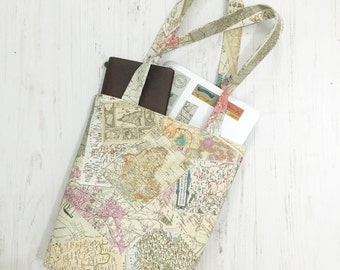 Old map book bag