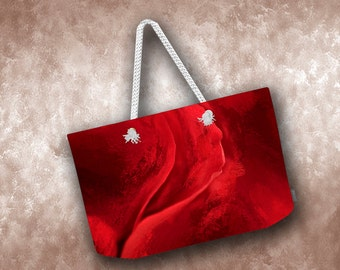 Red Rose Weekender Tote.