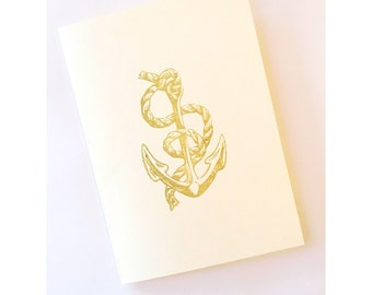 Anchor Card Set of 5 (Gold)