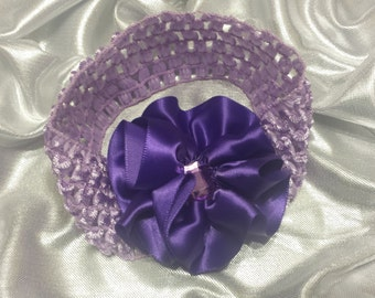 Girls Lavender and Purple Headband with Rhinestone