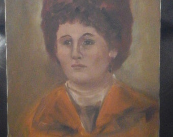 Signed oil portrait 1950 circa