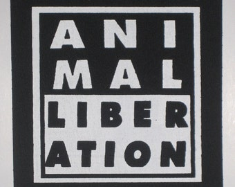 Animal Liberation patch- Veganism and animal rights