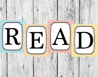 Read sign for classroom or reading nook, Glitter Read sign, 8x10 Glitter Read Sign, Classroom Decor