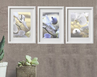 set of 3 photographs of orchids from 32 euros; photography, floral nature, nature decor.