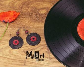 Vinyl Earrings to wear and listen