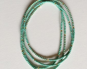 Beaded Magnesite Double Wrap Necklace