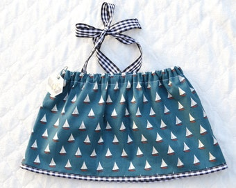 Sailboat Crop Top Sized 12-18 months