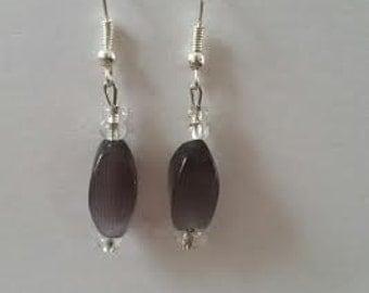 Glass Purple Earrings
