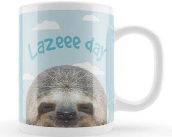 Sloth Mug, funny sloth lover gift, funny animal mug, novelty gift idea, sloth fan mug, animal joke present