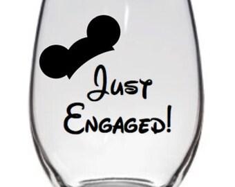 Disney Just Engaged Glass