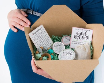 New Mom Gift Basket, Organic Baby and postpartum Essentials Gift Set - Organic care set, Postpartum, baby shower gift, all natural