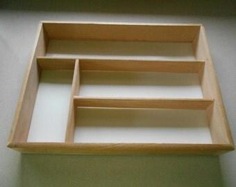 Vintage wooden drawer divider