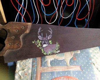 Hand Painted Hand Saw-Will Personalize